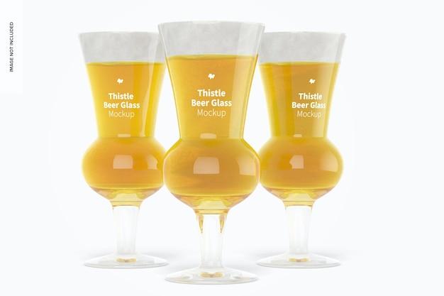 Maquette de verres à bière thistle
