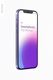 Maquette de la version violette du smartphone, vue latérale droite