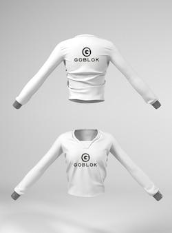 Maquette de veste pour femme