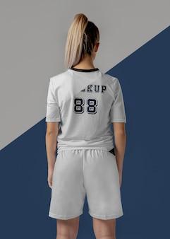 Maquette de vêtements pour joueuses de football