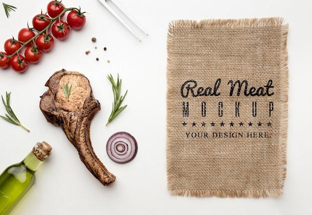 Maquette de viande grillée