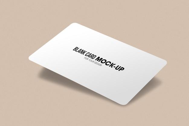 Maquette vierge de carte de visite ou de nom.
