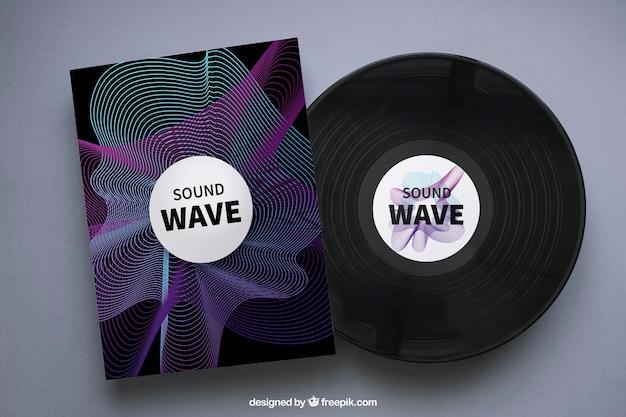 Maquette de vinyle et de brochure