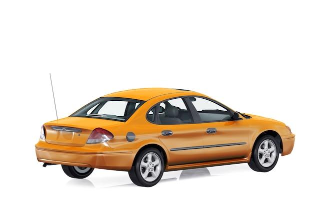 Maquette de voiture berline 2000