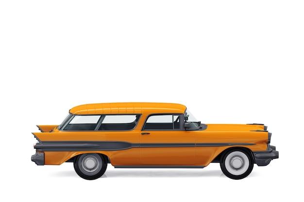 Maquette de voiture combi rétro wagon 1957