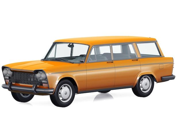 Maquette de voiture combi rétro wagon 1963