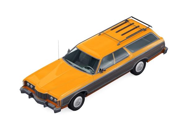 Maquette de voiture combi rétro wagon 1973