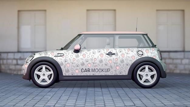 Maquette de voiture de côté