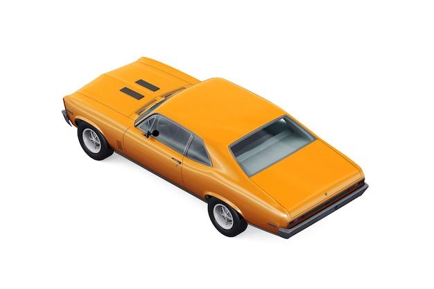 Maquette de voiture coupé rétro 1970
