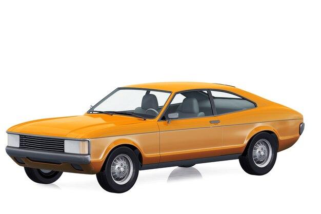 Maquette de voiture coupé rétro 1972