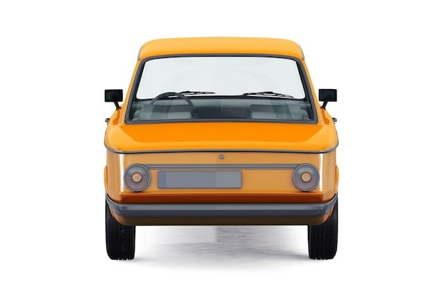 Maquette de voiture coupé rétro