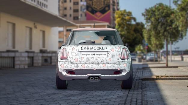 Maquette de voiture de retour
