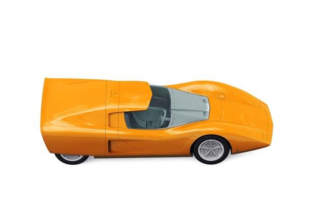 Maquette de voiture rétro sport