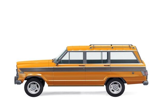 Maquette de voiture rétro suv 4x4 1978