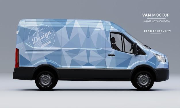 Maquette de voiture utilitaire générique vue latérale droite maquette de van
