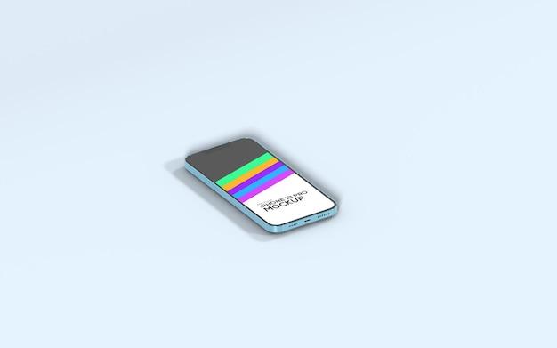Maquette de vue de dessus isométrique pour smartphone iphone 13 pro