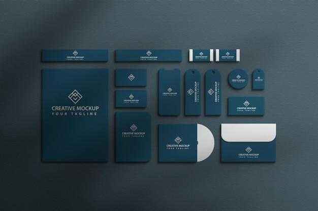 Maquette de vue d'entreprise de marque de papeterie premium
