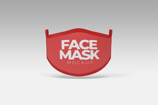 Maquette de la vue de face du masque facial