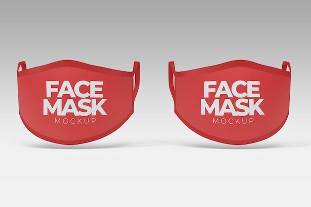 Maquette de la vue de face des masques