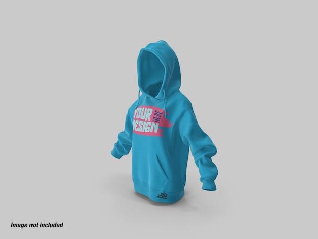 Maquette de vue latérale à capuche pour enfants ou adolescents