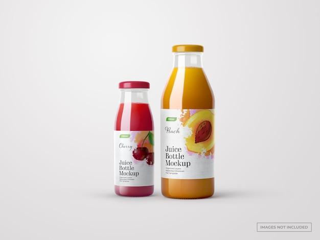 Maquettes de bouteilles de jus