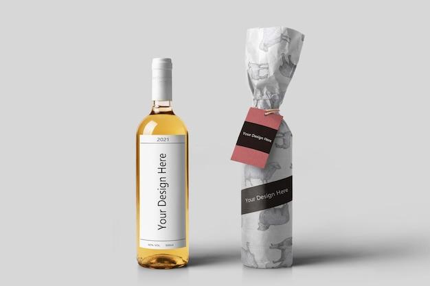 Maquettes de bouteilles de vin réalistes