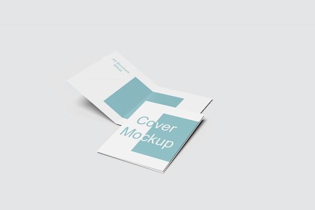 Maquettes de brochures a4 pliantes