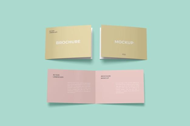 Maquettes de brochures à deux volets de paysage
