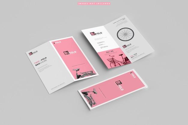 Maquettes de brochures à deux volets