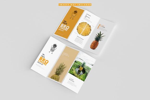 Maquettes de brochures à trois volets