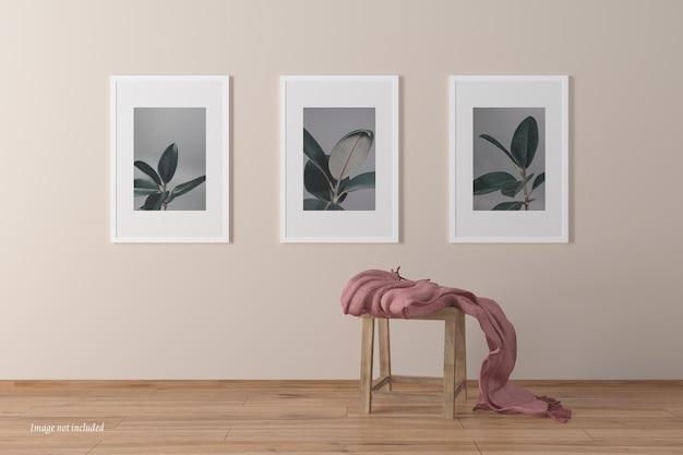 Maquettes de cadre de portrait minimaliste