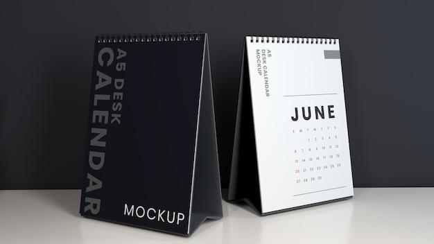 Maquettes de calendrier de bureau minimalistes