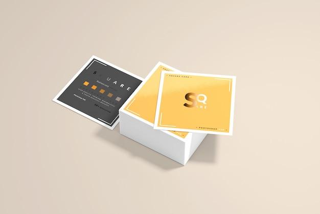 Maquettes de cartes de visite carrées