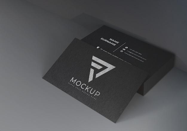 Maquettes de cartes de visite noires