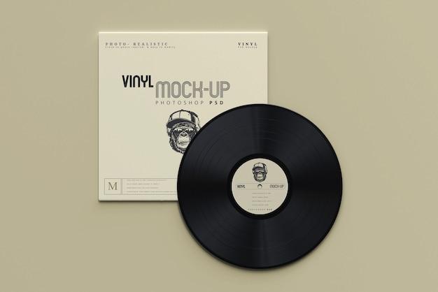 Maquettes de disques et manchons en vinyle de style vintage