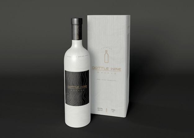 Maquettes d'emballage de vin