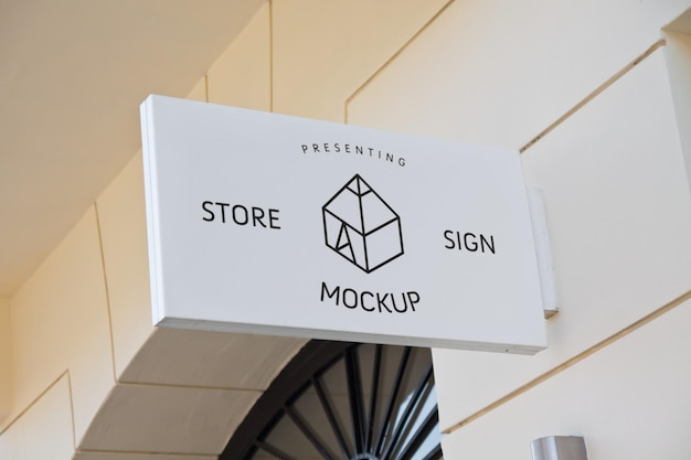 Maquettes d'enseignes de magasin