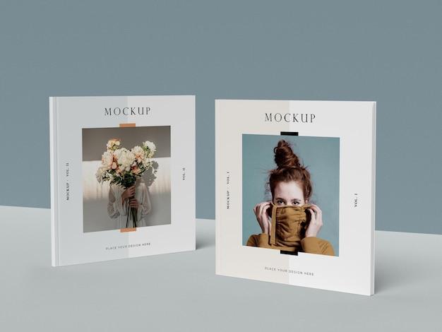 Maquettes de magazine éditorial squares