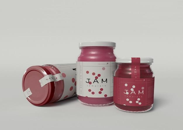 Maquettes de pot de confiture