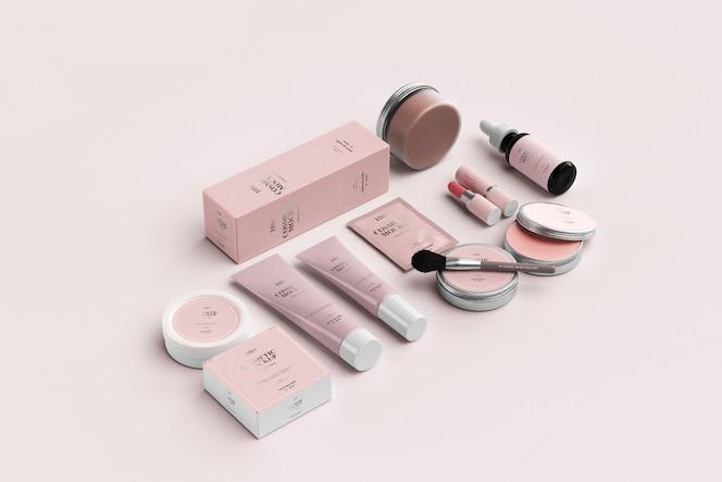 Maquettes de produits cosmétiques