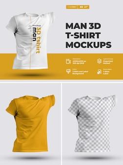 Maquettes de t-shirts 3d.