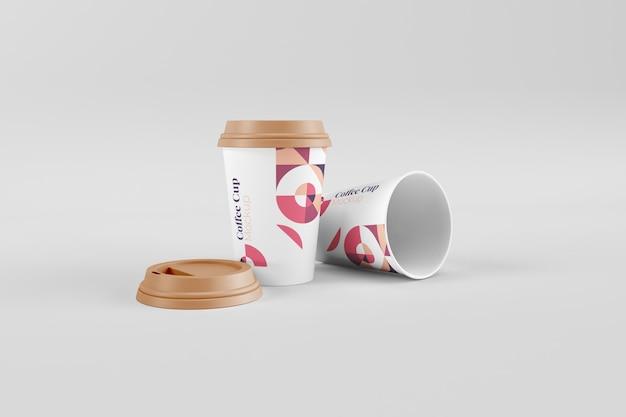 Maquettes de tasse à café utiles et élégantes réalistes