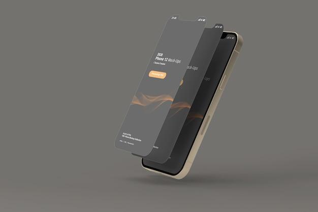 Maquettes de téléphone intelligent avec écran détaché