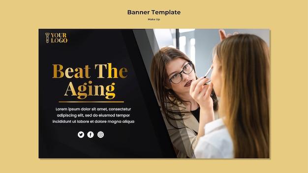 Maquillage concept de modèle de bannière