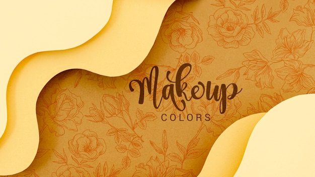 Maquillage fond de couleurs avec des fleurs