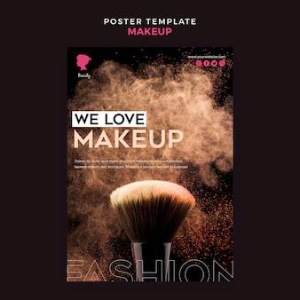 Maquillage modèle d'affiche