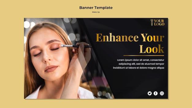 Maquillage modèle de bannière