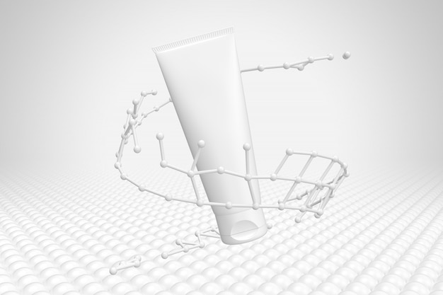Maquillage molécule maquette d'emballage