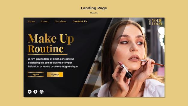 Maquillage de la page de destination
