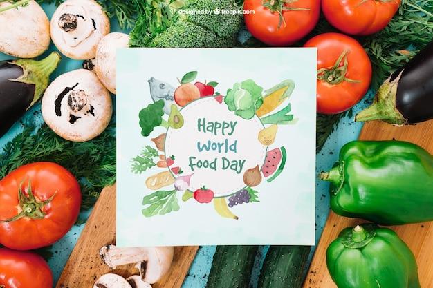 Maquillage végétarien avec carte papier
